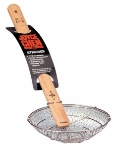stainless steel strainer spoon