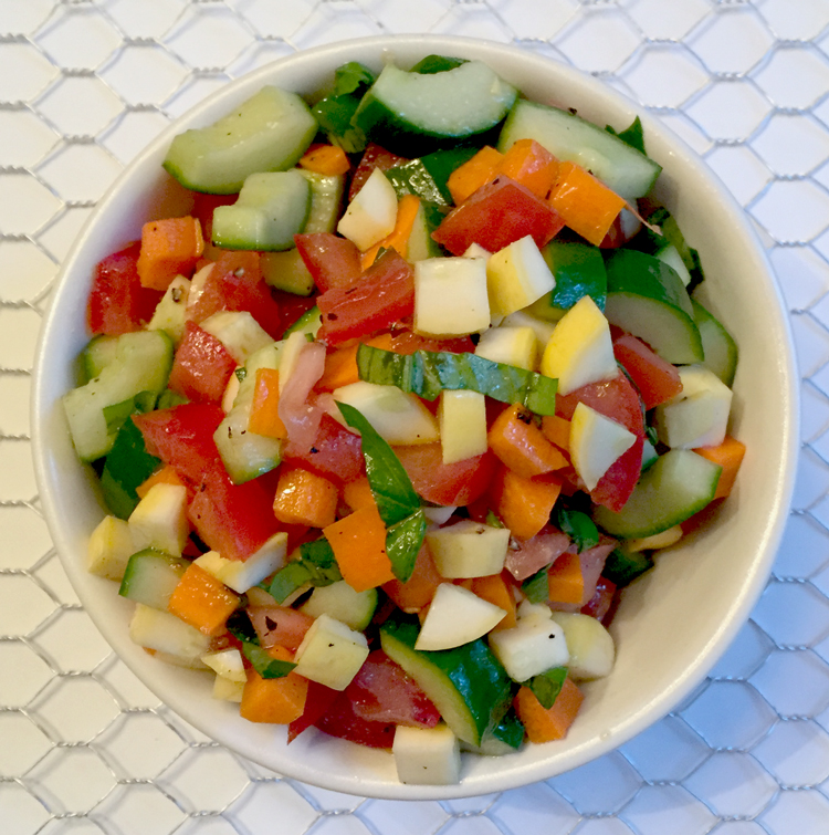 summer vegetable recipe simple veggie salad
